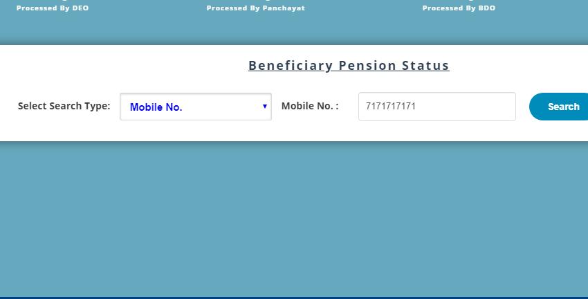 step 4 - how to check mukhyamantri pension yojana payment status online