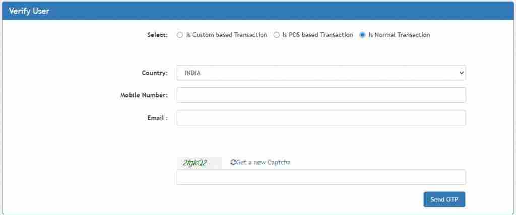 bharat kosh payment track transaction status check
