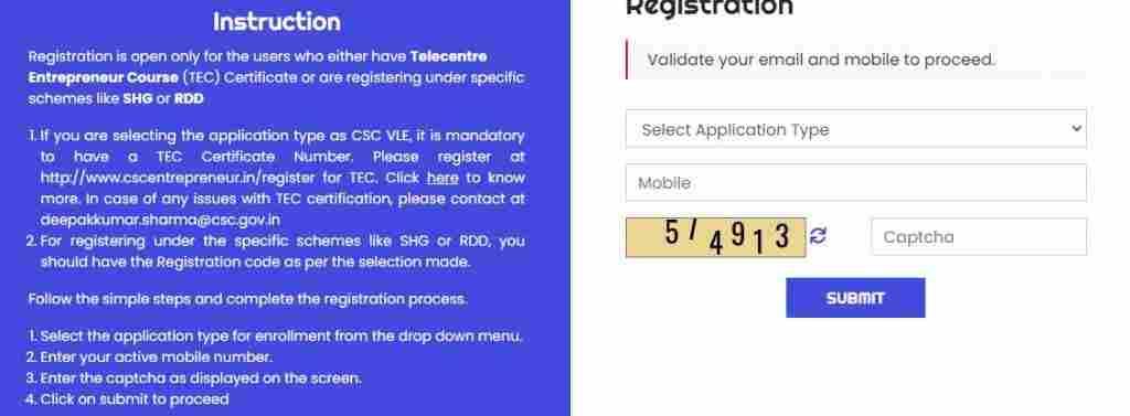 csc vle registration digimail account register