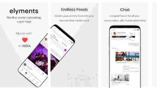 elyments indian social media app download