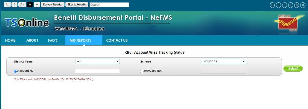 ts bdp postal payment check