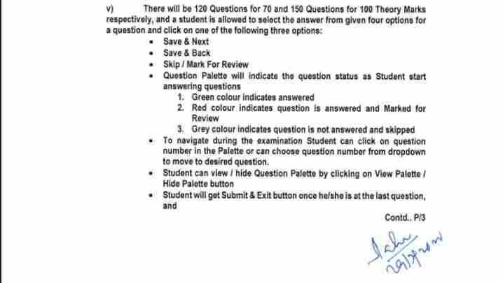 BPUT Online Exam App guidelines