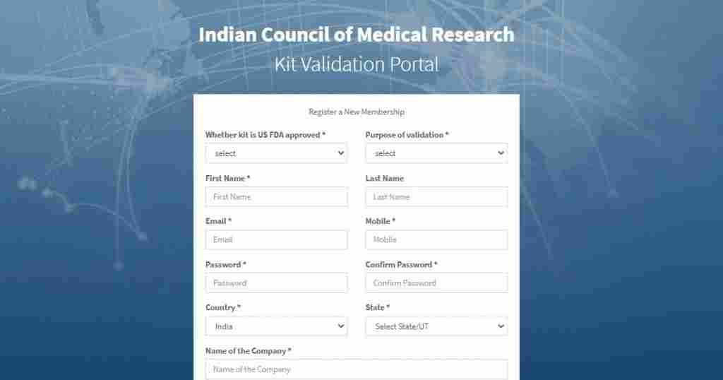icmr covid portal registration